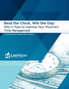 Time Management for your Law Firm